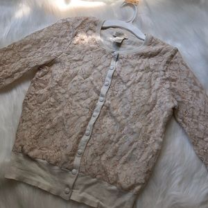 Lucky brand lace wool cardigan